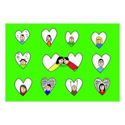 کارت پستال فانتزي 10/5×15 دوازده قلب