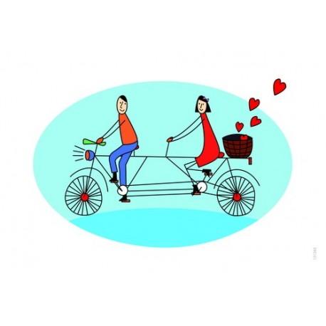 کارت پستال فانتزي 10/5×15 دوچرخه دو نفره