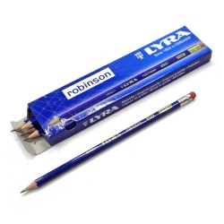 مداد HB مشکی پاکن دارrobinson لیرا