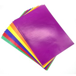کاغذ رنگی گلاسه (135گرمی) 12 برگی