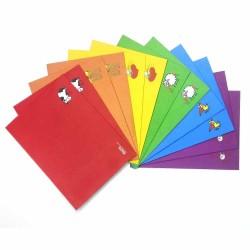 پاکت فانتزی رنگی ( بسته 10 تایی )