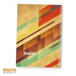 دفتر جلد ساده 100 برگ
