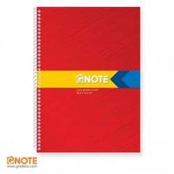 دفتر جلد کلاسیک سه خط زبان 60 برگ