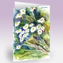 کارت پستال 12×17 (داوودي سفيد آبرنگ)