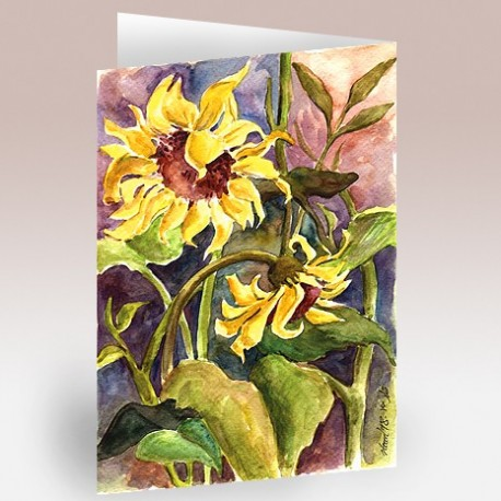 کارت پستال 12×17(آفتاب گردان آبرنگ)