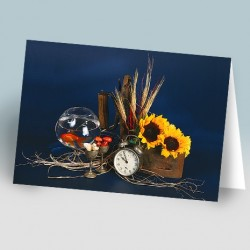 کارت پستال 14.5×21 (هفت سین و اتو زمينه سورمه اي)