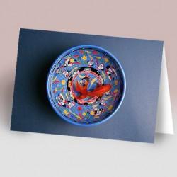 کارت پستال 14.5×21 (کاسه و ماهي)