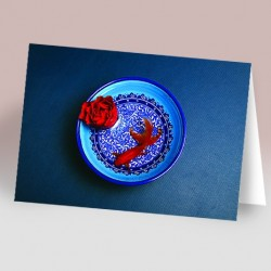 کارت پستال 14.5×21 (کاسه و ماهي و گل)