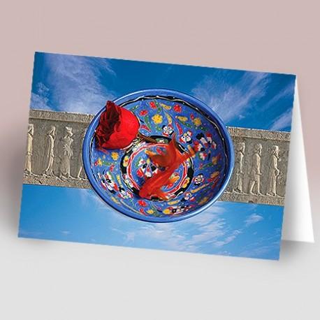 کارت پستال 14.5×21 (کاسه و ماهي و سرباز هخامنشي)