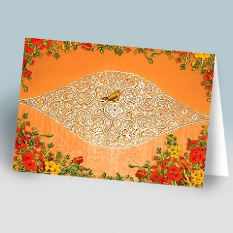 کارت پستال 14.5×21 (کچبري اسليمي و گنجشک)