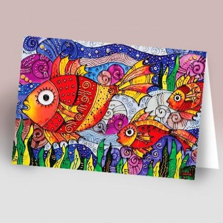 کارت پستال 14.5×21 (ماهي ويتراي)