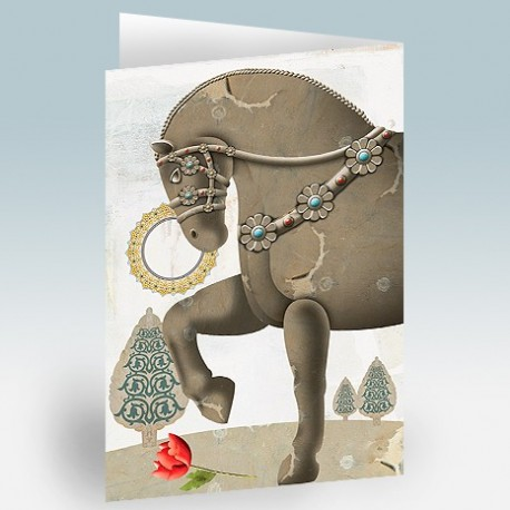 کارت پستال 14.5×21 (اسب هخامنشي)