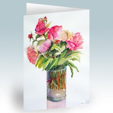 کارت پستال 14.5×21 (گل رز آبرنگ)