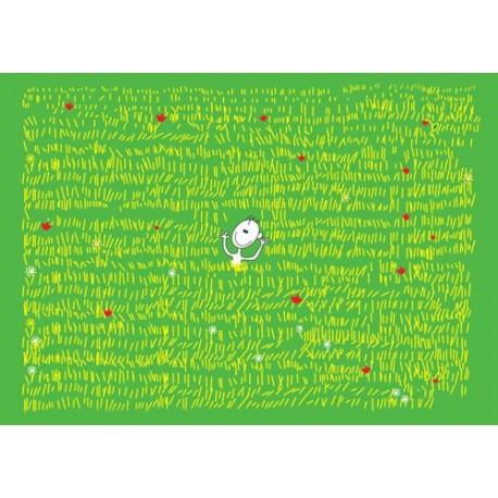 کارت پستال فانتزي 10.5×15 پسر علفزار